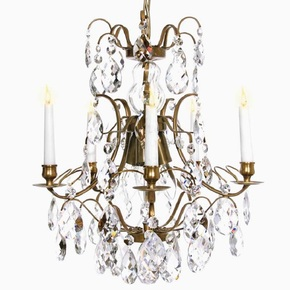 5-Arm-Crystal-Chandelier-In-Amber-Coloured-Brass_Gustavian-Style_Treniq_0