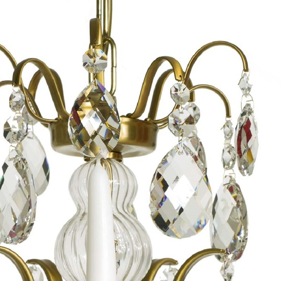 5 arm crystal chandelier in amber coloured brass gustavian style treniq 1 1522488173402