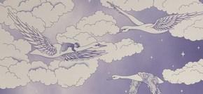Hevensent-Swans-Lavender-Wallpaper_Hevensent_Treniq_0