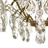 6 arm crystal chandelier in amber coloured brass gustavian style treniq 1 1522519831816