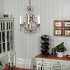 6 arm crystal chandelier in amber coloured brass gustavian style treniq 1 1522519831834