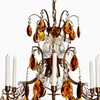6 arm crystal chandelier in amber coloured brass with amber coloured crystals gustavian style treniq 1 1522522228248