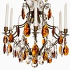 6 arm crystal chandelier in dark brass with amber coloured crystals gustavian style treniq 1 1522522350378