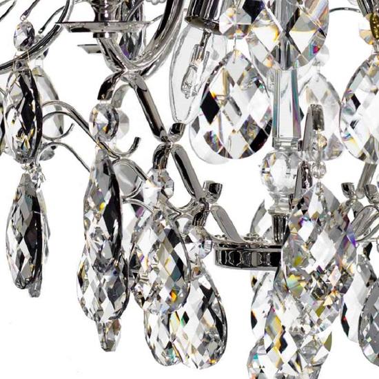 6 arm silver crystal chandelier in silver plated brass gustavian style treniq 1 1522522735244