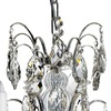 6 arm silver crystal chandelier in silver plated brass gustavian style treniq 1 1522522735246