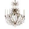 8 arm crystal chandelier in amber coloured brass gustavian style treniq 1 1522528101860