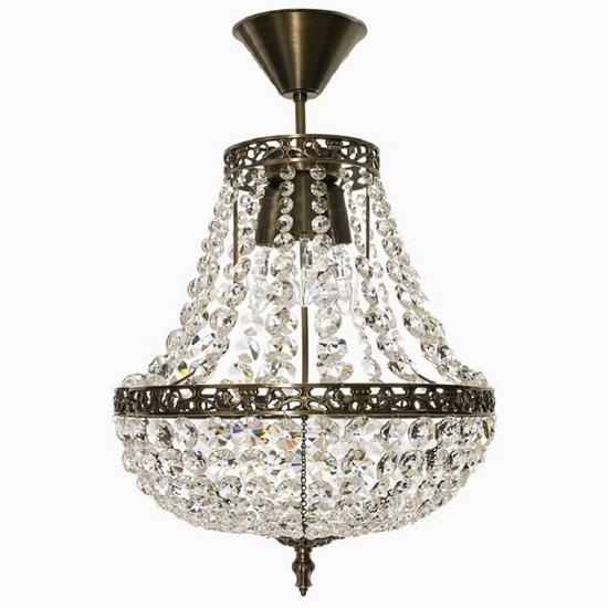 Empire crystal chandelier in dark brass gustavian style treniq 1 1522528470468