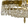 Empire crystal chandelier in amber coloured brass with a basket of crystal octagons gustavian style treniq 1 1522529022116