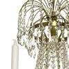 6 arm empire crystal chandelier in amber coloured brass with a basket of crystal octagons gustavian style treniq 1 1522529832120