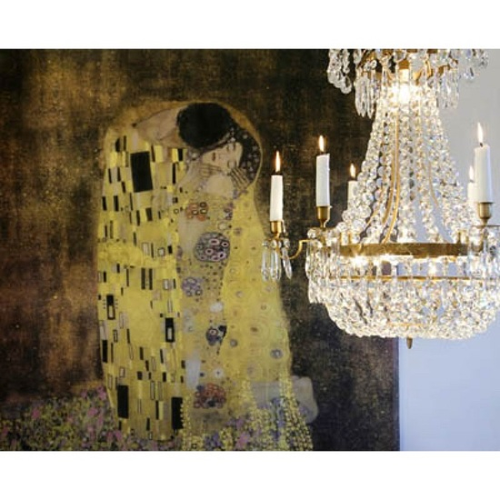 6 arm empire crystal chandelier in amber coloured brass with a basket of crystal octagons gustavian style treniq 1 1522529832150