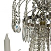6 arm empire crystal chandelier in nickel plated brass with a basket of crystal octagons gustavian style treniq 1 1522530045910