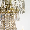 6 arm empire crystal chandelier in polished brass with crystal drops gustavian style treniq 1 1522530155850