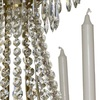 6 arm empire crystal chandelier in amber coloured brass with crystal drops gustavian style treniq 1 1522530694210