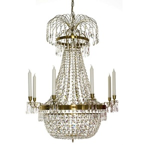 8-Arm-Empire-Crystal-Chandelier-In-Amber-Coloured-Brass-With-A-Basket-Octagons-Of-Crystal_Gustavian-Style_Treniq_0