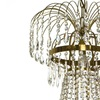 8 arm empire crystal chandelier in amber coloured brass with a basket octagons of crystal gustavian style treniq 1 1522530839510
