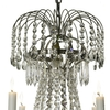 6 arm empire crystal chandelier in nickel plated brass with crystal drops gustavian style treniq 1 1522530930948