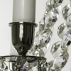 6 arm empire crystal chandelier in nickel plated brass with crystal drops gustavian style treniq 1 1522530930934