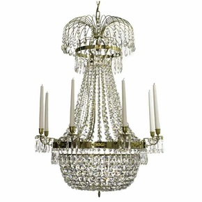 8-Arm-Empire-Crystal-Chandelier-In-Polished-Brass-With-A-Basket-Of-Crystal-Octagons_Gustavian-Style_Treniq_0