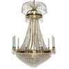 10 arm empire crystal chandelier in amber coloured brass with crystal drops gustavian style treniq 1 1522531724218