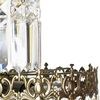 Swedish crystal chandelier in dark brass with basket shaped crystal bottom gustavian style treniq 1 1522573405068