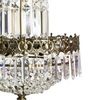 Swedish crystal chandelier in dark brass with basket shaped crystal bottom gustavian style treniq 1 1522573404978