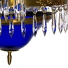 Swedish crystal chandelier in amber coloured brass with basket shaped coloured glass bottom gustavian style treniq 1 1522573592166