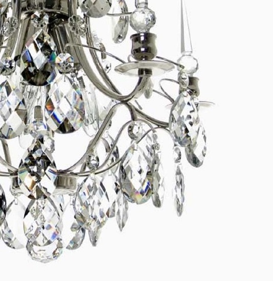 Crystal plafond chandelier in nickel plated brass with crystals gustavian style treniq 1 1522574087470