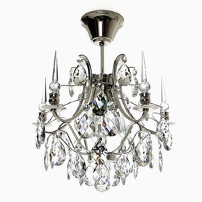 Crystal-Plafond-Chandelier-In-Nickel-Plated-Brass-With-Crystals_Gustavian-Style_Treniq_0