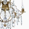 Crystal plafond chandelier in amber coloured brass with crystals gustavian style treniq 1 1522575083440