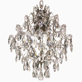 Crystal-Chandelier-In-Nickel-Plated-Brass-With-Crystals_Gustavian-Style_Treniq_0
