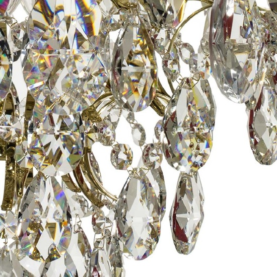 Crystal chandelier in polished brass with crystals gustavian style treniq 1 1522575211712