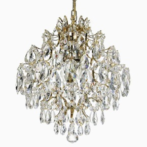 Crystal-Chandelier-In-Polished-Brass-With-Crystals_Gustavian-Style_Treniq_0