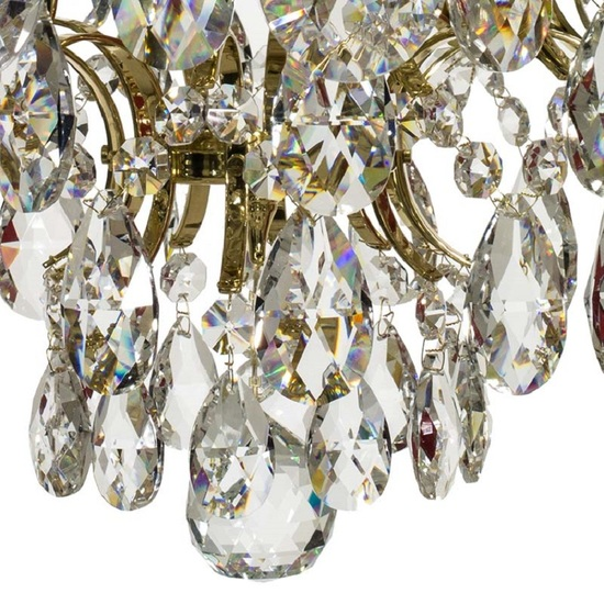 Crystal chandelier in polished brass with crystals gustavian style treniq 1 1522575211736