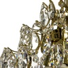 Crystal chandelier in polished brass with crystals gustavian style treniq 1 1522575211752