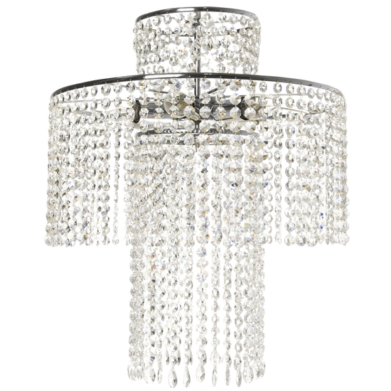 Rainfall crystal chandelier in nickel plated brass with crystal octagons gustavian style treniq 1 1522575985802