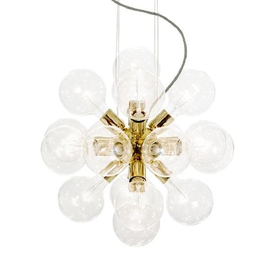 Modern glass chandelier in polished brass with 18 clear halogen bulbs gustavian style treniq 1 1522576565520