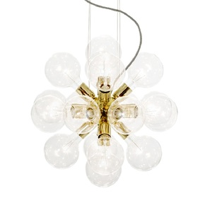 Modern-Glass-Chandelier-In-Polished-Brass-With-18-Clear-Halogen-Bulbs_Gustavian-Style_Treniq_0