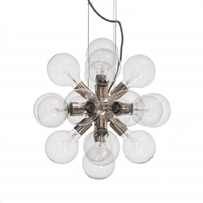 Modern-Glass-Chandelier-In-Nickel-Plated-Brass-With-18-Clear-Halogen-Bulbs_Gustavian-Style_Treniq_0