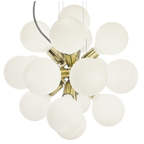 Modern-Glass-Chandelier-In-Polished-Brass-With-18-White-Halogen-Bulbs_Gustavian-Style_Treniq_0