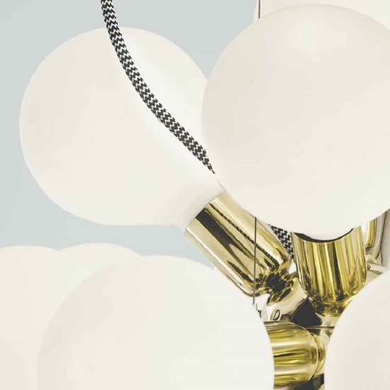 Modern glass chandelier in polished brass with 18 white halogen bulbs gustavian style treniq 1 1522576660102