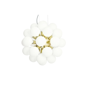 Modern-Glass-Chandelier-In-Polished-Brass-With-34-White-Halogen-Bulbs_Gustavian-Style_Treniq_0