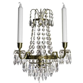 Empire-Style-Wall-Sconce-In-Amber-Coloured-Brass_Gustavian-Style_Treniq_0