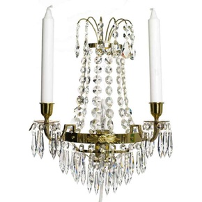 Empire-Style-Wall-Sconce-In-Polished-Brass_Gustavian-Style_Treniq_0