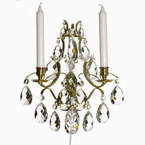 Rococo-Style-Wall-Sconce-In-Polished-Brass_Gustavian-Style_Treniq_0