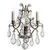 Rococo style wall sconce in dark brass with pendeloque crystals gustavian style treniq 1 1522621935016