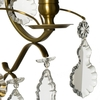 Rococo style wall sconce in amber coloured brass with pendeloque shaped crystals gustavian style treniq 1 1522622084188