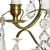 Rococo style wall sconce in amber coloured brass with pendeloque shaped crystals gustavian style treniq 1 1522622084104