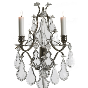 Rococo-Style-Wall-Sconce-In-Nickel-Plated-Brass-With-Pendeloque-Shaped-Crystals_Gustavian-Style_Treniq_0