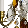 Rococo style wall sconce in amber coloured brass with amber coloured crystals gustavian style treniq 1 1522622235642
