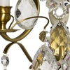 Rococo style wall sconce in amber coloured brass with clear cracked crystals gustavian style treniq 1 1522622420470
